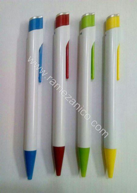 خودکار پلاستیکی لاین سفید